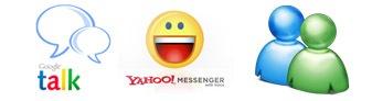 gtalk yahoo live messengers