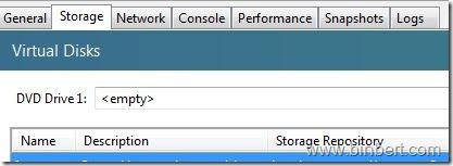 emty DVD xen server