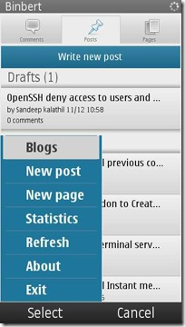 wordpress symbian articles