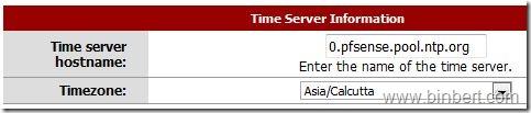 pfsense configure time server