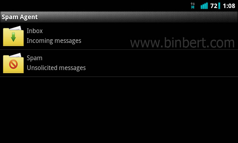 Anti spam sms filter application for android & Symbian – Binbert